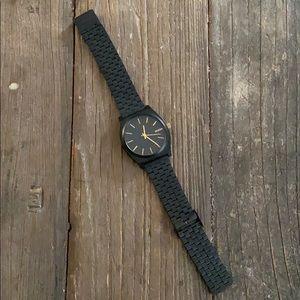 Nixon Matte Black The Time Teller Watch